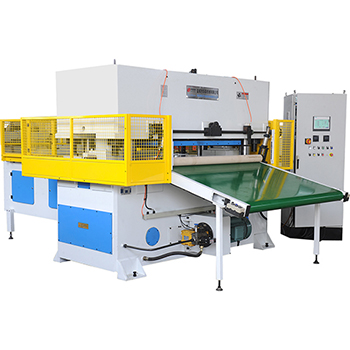 Automatic stepping hot press molding production line