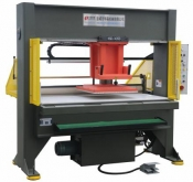 Move head cutting machine with double roller feeding